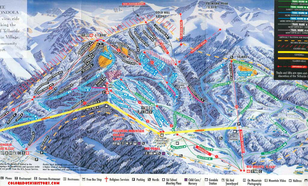 The History of Telluride Ski Area on map of all maldives resorts, map of all colorado 14ers, map of all michigan, map of all new york city,